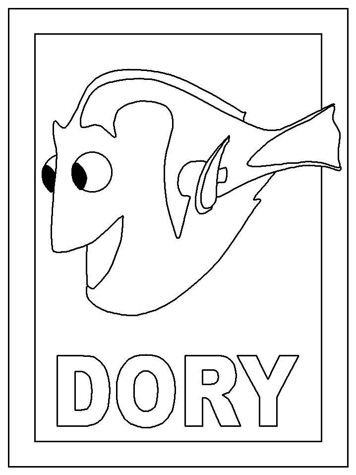 Ausmalbild Dory