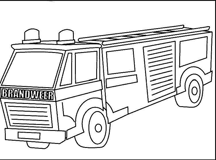 Ausmalbild Feuerwehrauto