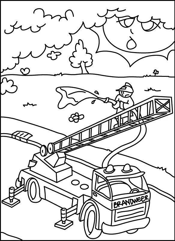 Ausmalbild Feuerwehr Auto