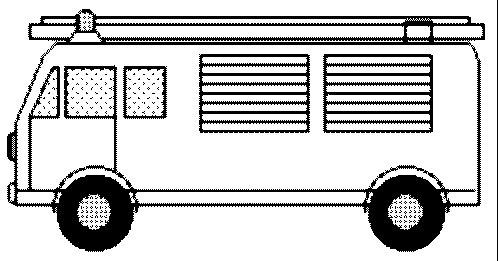 Ausmalbild: ausmalbild-Feuerwehrauto-3