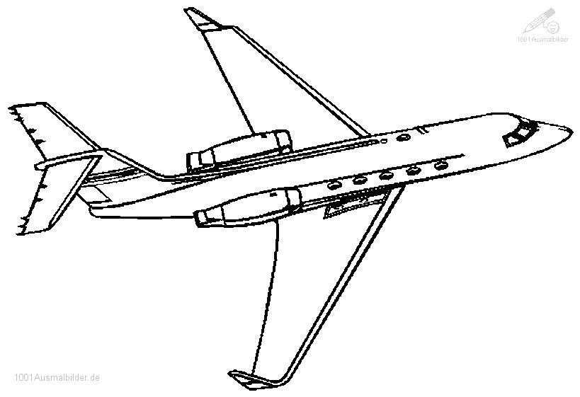 Fahrzeuge gt gt flugzeug gt gt ausmalbild flugzeug jet