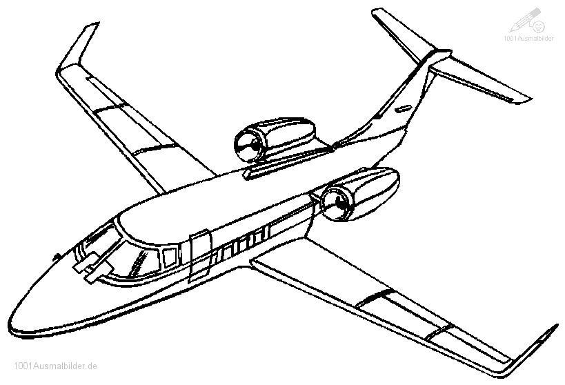 Ausmalbild Flugzeug Boeing