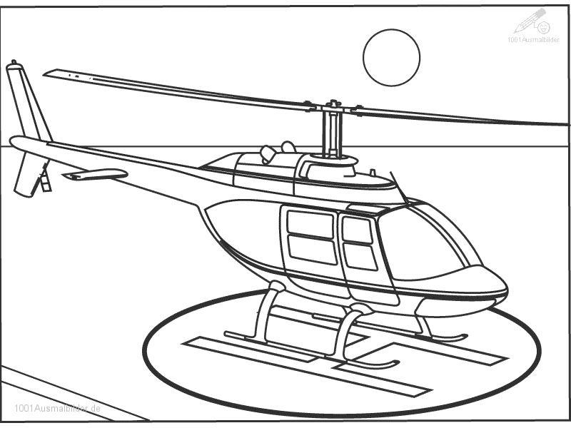 Ausmalbild Hubschrauber