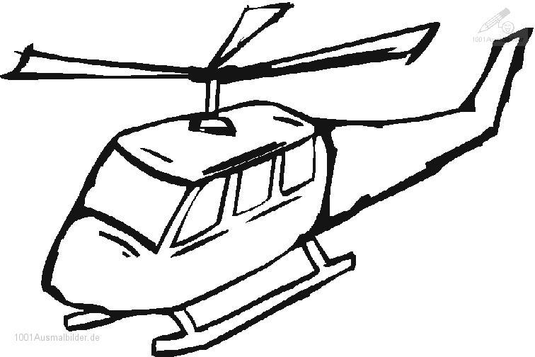 1001 Ausmalbilder Fahrzeuge Hubschrauber Ausmalbild Hubschrauber