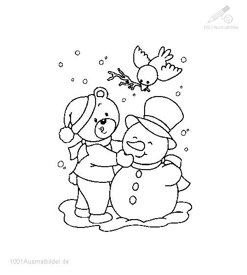 Frohe Weihnachten Zum Ausmalen.1001 Ausmalbilder Weihnachten Schneemann Ausmalbild