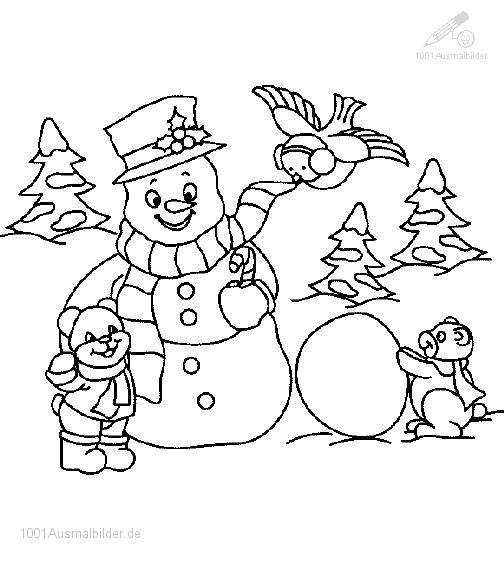Malvorlagen Zeichnen Ausmalbilder Winter
