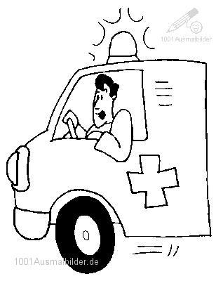 Ausmalbild Ambulanz