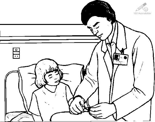 Ausmalbild Arzt