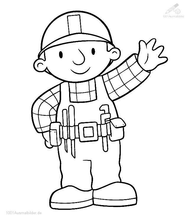 Ausmalbild Bob der Baumeister