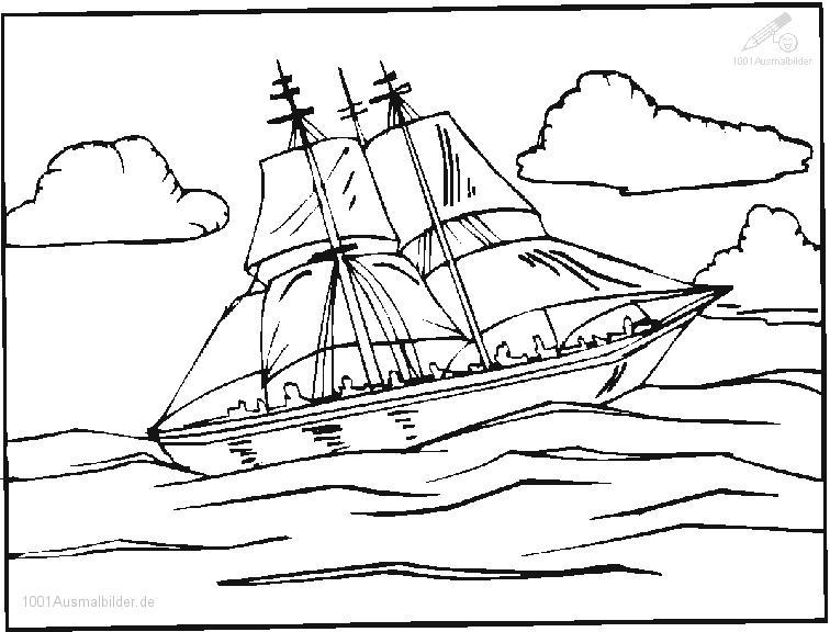 Ausmalbild Boot
