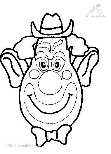 Ausmalbild: ausmalbild-clown-16