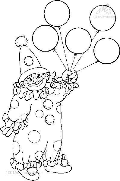 Ausmalbild: ausmalbild-clown-17