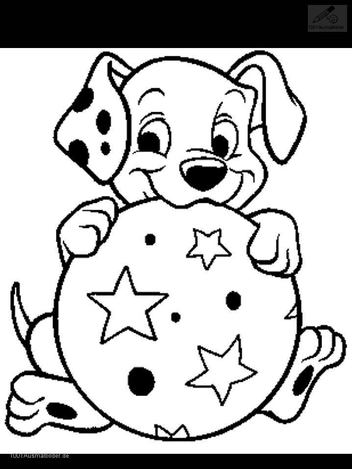 Ausmalbild Dalmatiner
