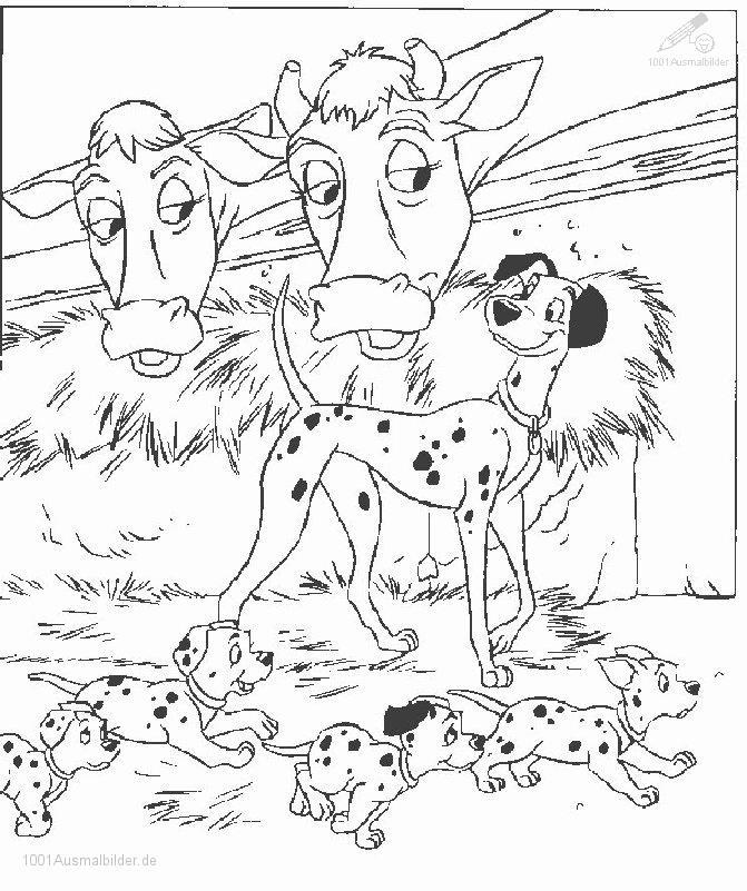 Dalmatiner Ausmalbild