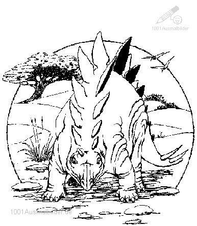 Ausmalbild: ausmalbild-dinosaurier-18