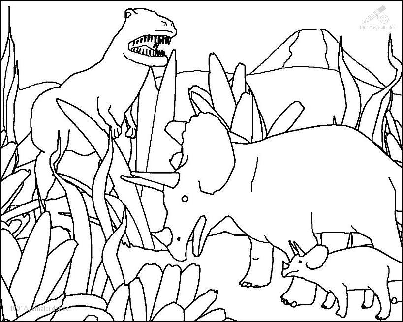 Ausmalbild: ausmalbild-dinosaurier-20