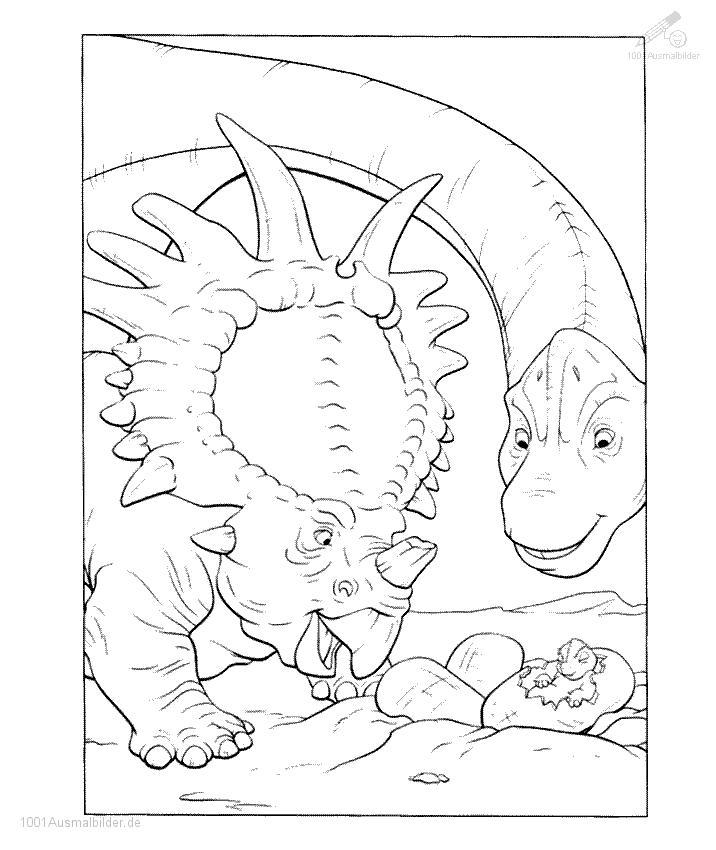 1001 AUSMALBILDER : Tiere >> Dinosaurier >> Ausmalbild Dinosaurier