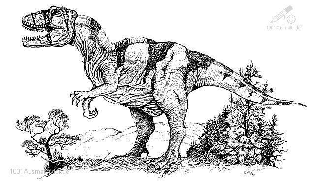 Ausmalbild Dinosaurier