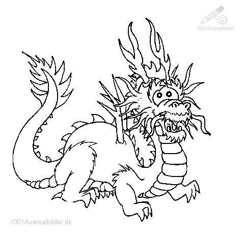 1001 Ausmalbilder Tiere Drachen Ausmalbild Drachen