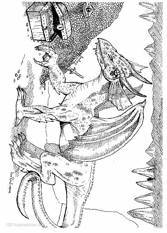 Ausmalbild: ausmalbild-drachen-10