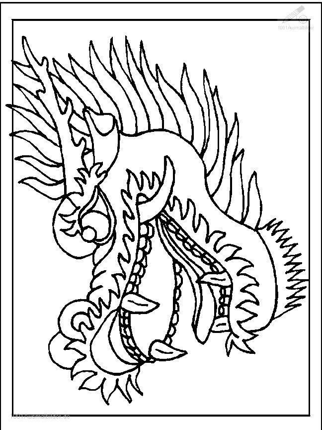 Ausmalbild: ausmalbild-drachen-15