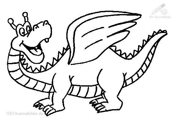 Ausmalbild Drachen