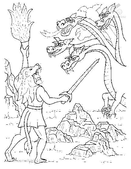 Free Coloring Pages God Helios