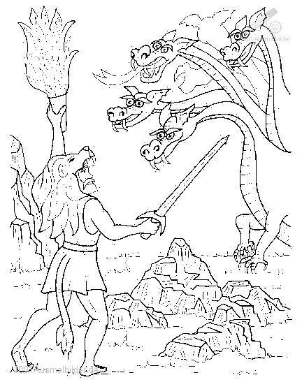 Ausmalbild: ausmalbild-drachen-9