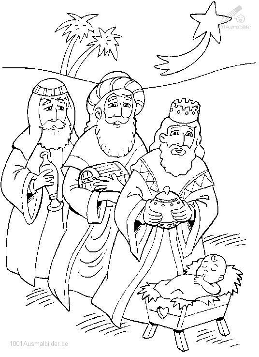 Drei Konig und Jesus