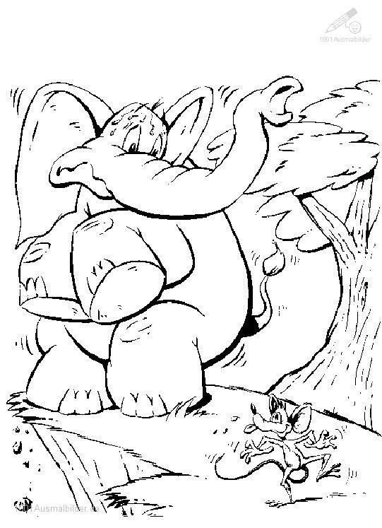 Ausmalbild Elefant