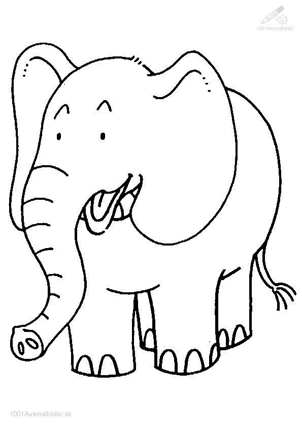 1001 Ausmalbilder Tiere Elefant Ausmalbilder Elefant