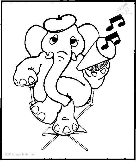 Elefant Ausmalbilder