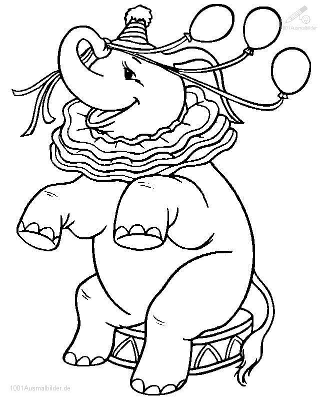 Ausmalbild: ausmalbild-elefant-3