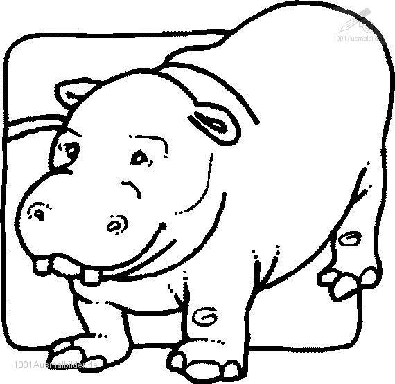 Ausmalbild: ausmalbild-flusspferd-10