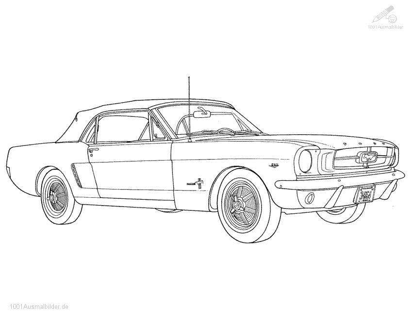 Ausmalbild Ford Mustang