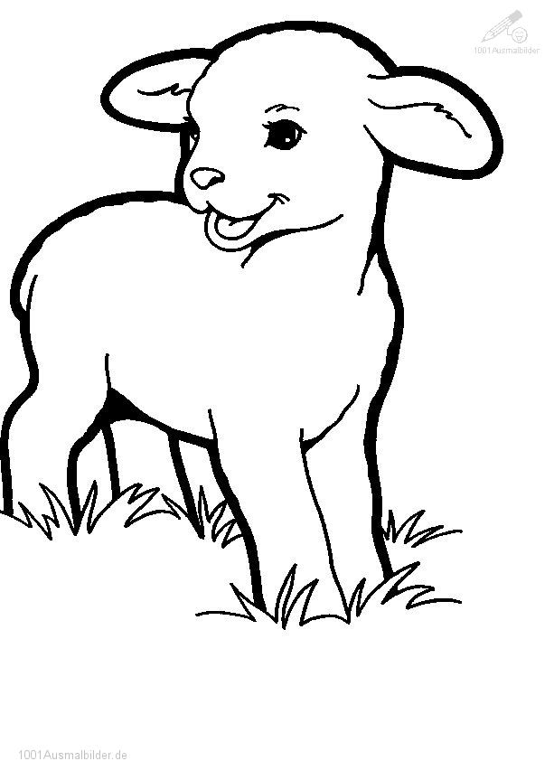 1001 Ausmalbilder Jahreszeit Fruhling Ausmalbild Fruhling Lamm