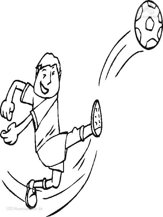 ausmalbild Fussball