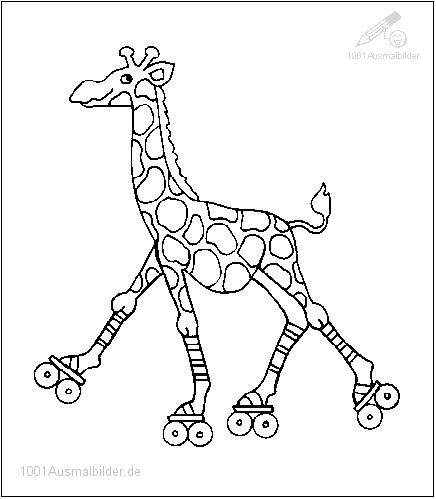 ausmalbilder giraffe