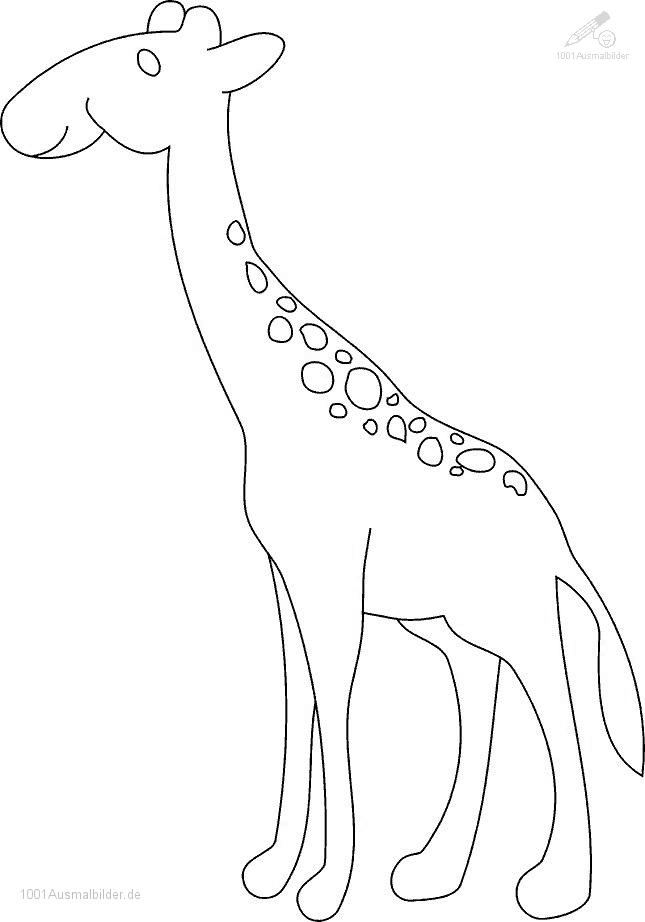 Ausmalbild: ausmalbild-giraffe-18