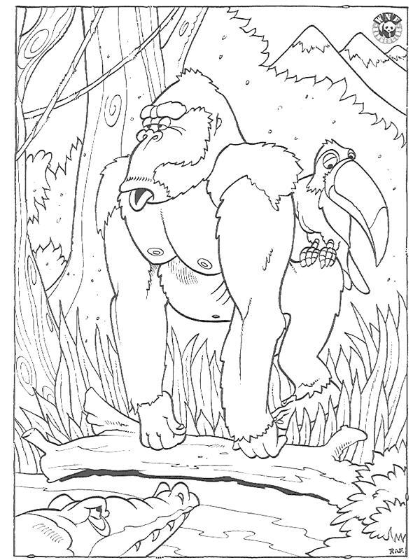 Ausmalbild Gorilla