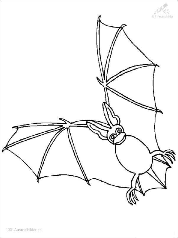 1001 Ausmalbilder Jahreszeit Halloween Halloween Fledermaus