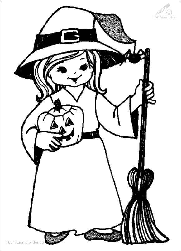 Ausmalbild Halloween