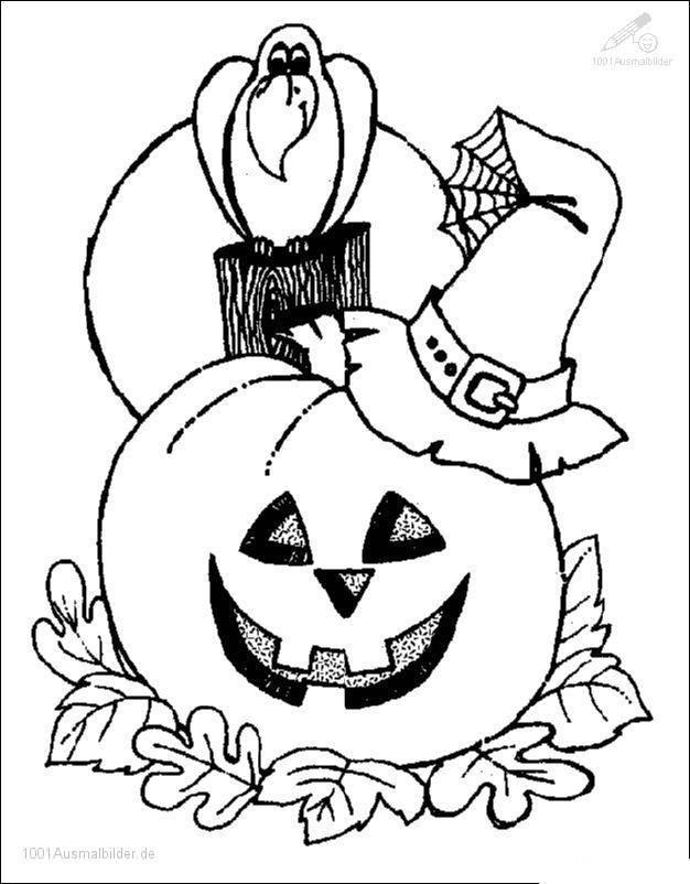 1001 AUSMALBILDER : Jahreszeit >> Halloween >> Halloween Ausmalbild