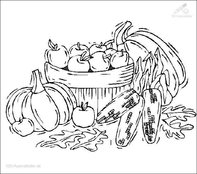 1001 Ausmalbilder Jahreszeit Herbst Herbst Ausmalbild