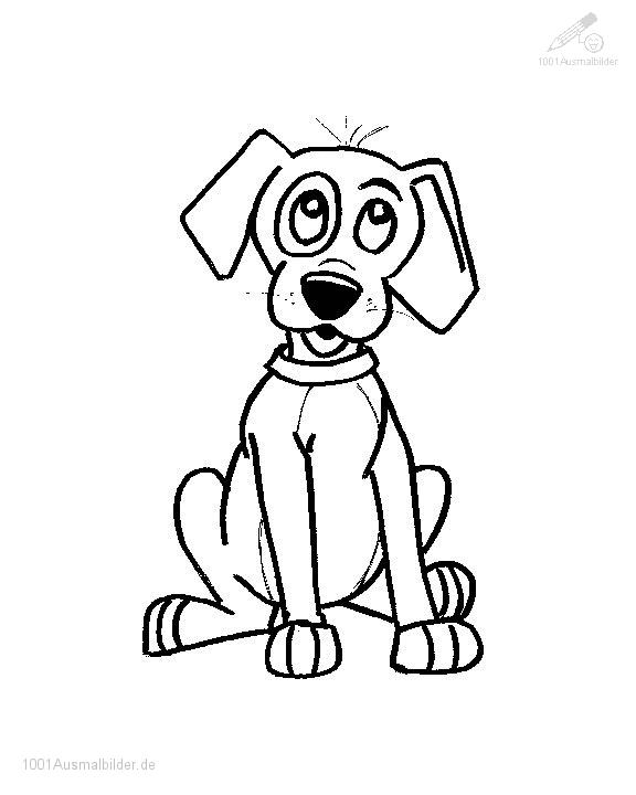 Ausmalbild hund for Cane disegno facile