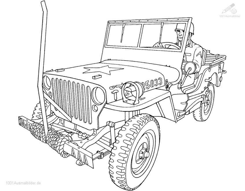 Ausmalbild Jeep