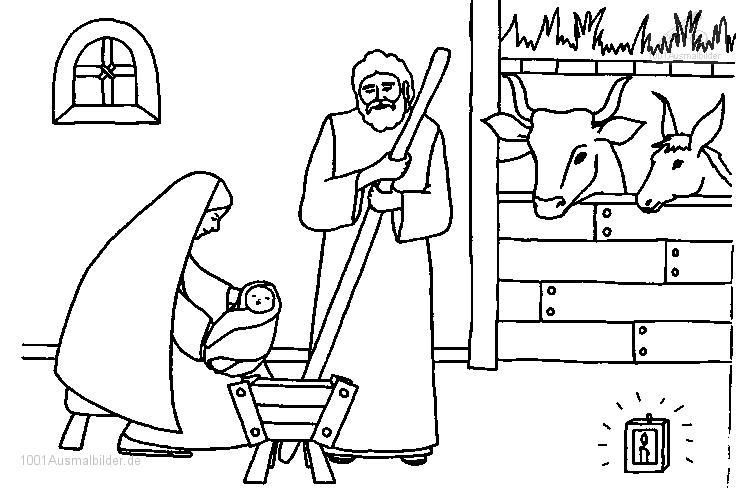 1001 Ausmalbilder Weihnachten Jesus Ausmalbild Jesus Maria