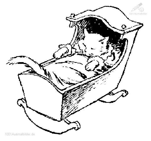 1001 Ausmalbilder Tiere Katze Ausmalbild Katze Schlaft