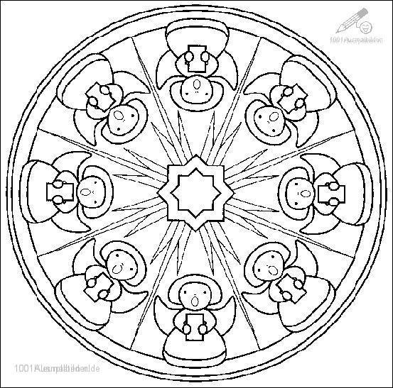 1001 Ausmalbilder Phantasie Mandala Ausmalbild Mandala