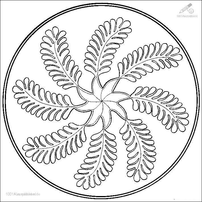 Ausmalbild Mandala
